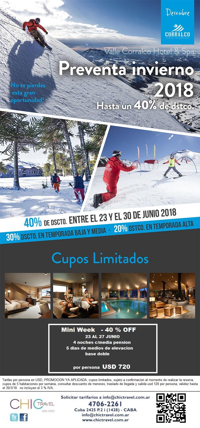 Corralco Ski Pre Venta